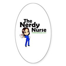 The Nerdy Nurse Decal