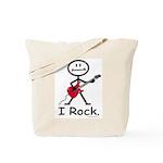 I Rock Stick Figure Tote Bag