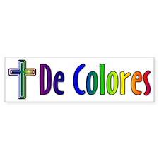 decolores_10x3_transp Bumper Bumper Sticker