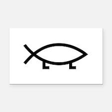 evolution fish Rectangle Car Magnet