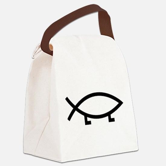 evolution fish Canvas Lunch Bag