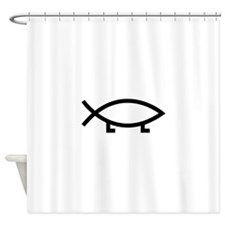 evolution fish Shower Curtain