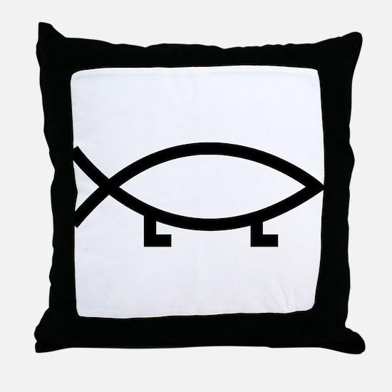 evolution fish Throw Pillow