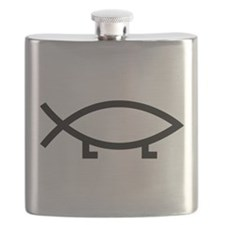 evolution fish Flask