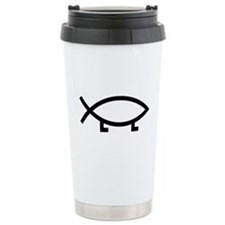 evolution fish Travel Mug