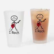 I Rock Stick Figure Drinking Glass