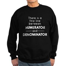 Fine line between numerator and denominator Sweats