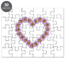 Pink Flower Heart Puzzle