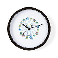 Giant Wheel Amusement Park Wall Clock