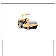 Asphalt Paving Machine Equipment Yard Sign