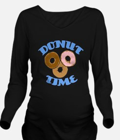 Donut Time Long Sleeve Maternity T-Shirt