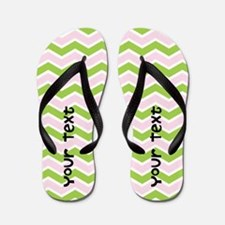 Chevron Custom Text Flip Flops
