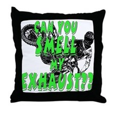 fart exhaust Throw Pillow