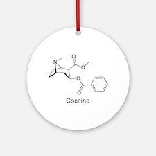 Cocaine - Coke Molecule Ornament (Round)
