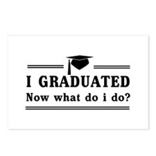 Graduated, now what? Postcards (Package of 8)