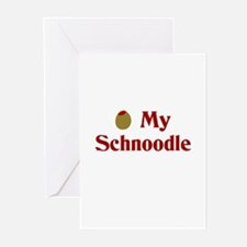 Olive(I Love) My Schnoodle Greeting Cards (Package