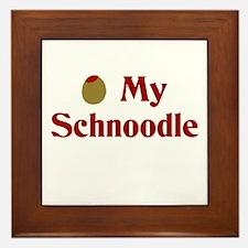 Olive(I Love) My Schnoodle Framed Tile