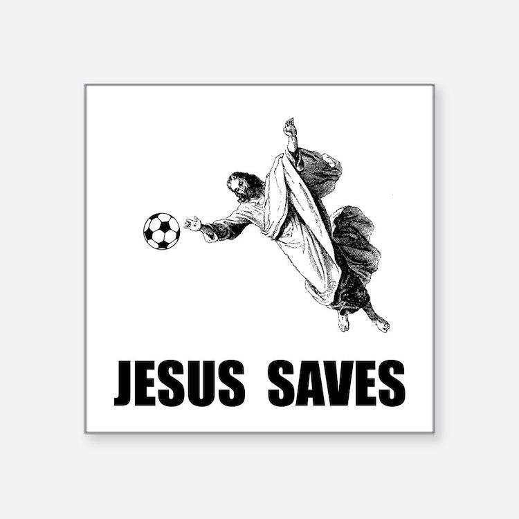 Jesus Saves Soccer Sticker
