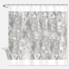 Abstract Silver Background Shower Curtain
