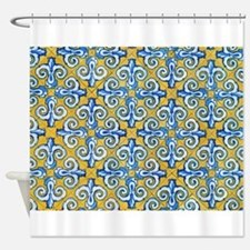 Spanish Tiles Shower Curtain