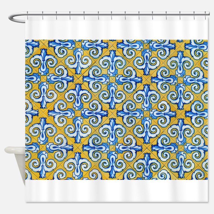 Mexican Blue And Yellow Shower Curtains | Mexican Blue And Yellow ...