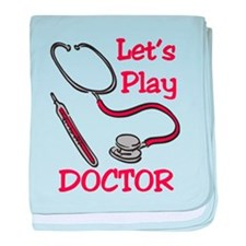 Lets Play Doctor baby blanket