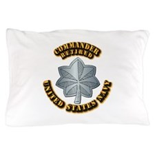 Navy - Commander - O-5 - Retired Text Pillow Case