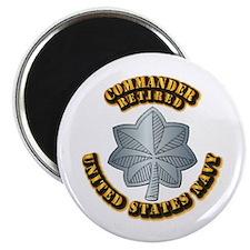 Navy - Commander - O-5 - Retired Text Magnet