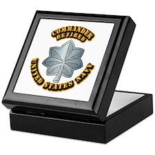 Navy - Commander - O-5 - Retired Text Keepsake Box