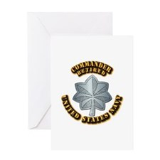 Navy - Commander - O-5 - Retired Tex Greeting Card