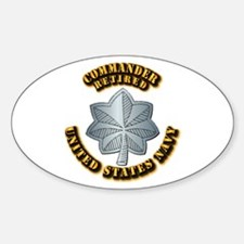 Navy - Commander - O-5 - Retired Te Decal