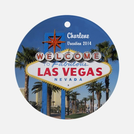 Personalized Las Vegas Sign Ornament (round)
