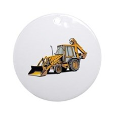 Earth Moving Tractor Ornament (Round)