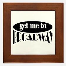 To Broadway Framed Tile