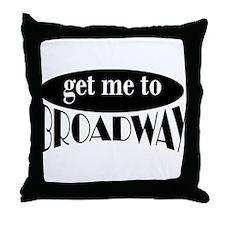To Broadway Throw Pillow