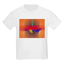 Pale Orange and Blue Contrast T-Shirt