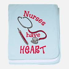 Nurses Have Heart baby blanket