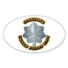 Navy - Commander - O-5 - w Text Decal