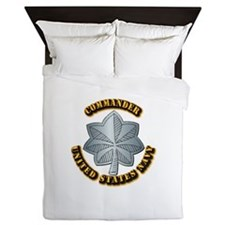 Navy - Commander - O-5 - w Text Queen Duvet