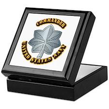 Navy - Commander - O-5 - w Text Keepsake Box