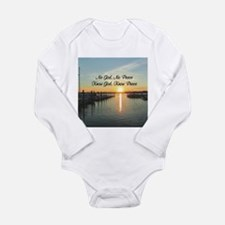 GOD IS PEACE Long Sleeve Infant Bodysuit