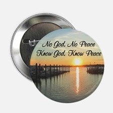"GOD IS PEACE 2.25"" Button (10 pack)"