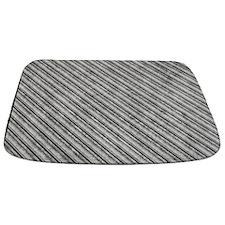Medium Grey Metal Diagonal Ridges MAT Bathmat