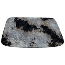 Pitted Rusted Cracked Grey Metal MAT Bathmat