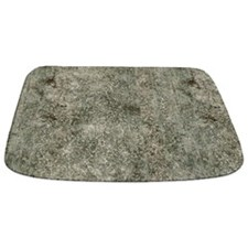 Grungy Mottled Grey Concrete MAT Bathmat