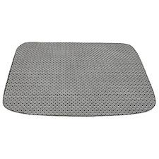 Dull Grey Perforated Metal Panel MAT Bathmat