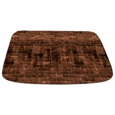 Dirty Grungy Old Red Brick MAT Bathmat