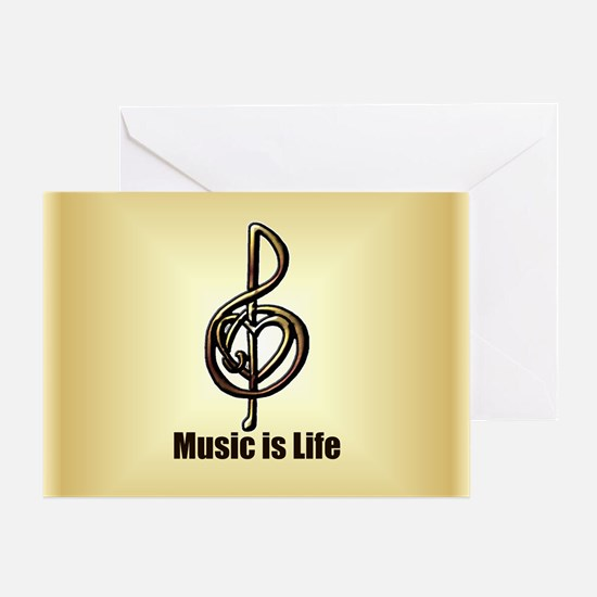 Treble Clef Music Gold Customizable Greeting Card