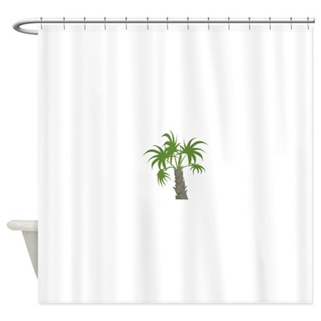palm tree plant shower curtain by concord17
