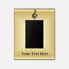 Treble Clef Music Gold Customizable Picture Frame